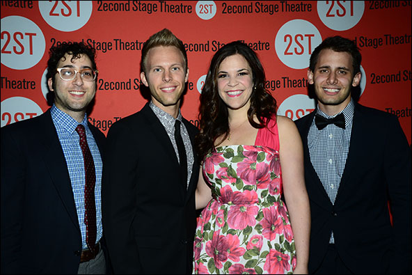 Peter Duchan, Justin Paul, Lindsay Mendez and Benj Pasek