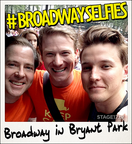 These guys know a thing or two about KILLING IT on stage 8 times a week! Greg Jackson and Jeff Kready from A Gentleman's Guide to Love and Murder join Heathers: The Musical's Dave Thomas Brown for a civilized selfie.