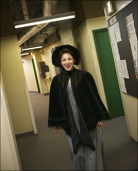 Elinor Dashwood (aka Stephanie Rothenberg) heads to places for the top of Act 1.