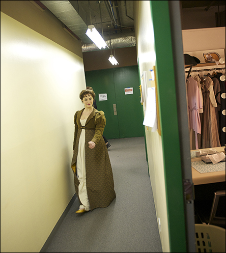 Act 1 is over and Trista Moldovan returns to her dressing room for intermission.