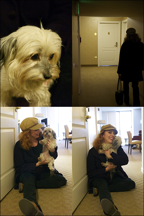 In between shows, Ruth Gottschall returns to her apartment to find a friend or two waiting for her.  Here is Martini!