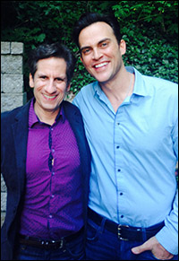 Seth with Cheyenne Jackson