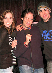 Laura Osnes, Seth Rudetsky and Max Crumm