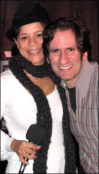 Rosie Perez and Seth Rudetsky.