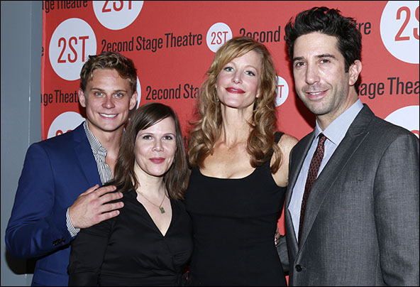 Billy Magnussen, Laura Eason, Anna Gunn and David Schwimmer