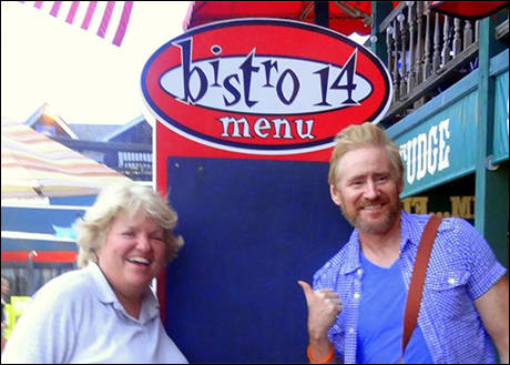 My friend, Michelle visits from Chicago and we have an amazing dinner at Bistro 14 - several minutes from Surflight theatre. Their flounder (pan-fried) is incredible!