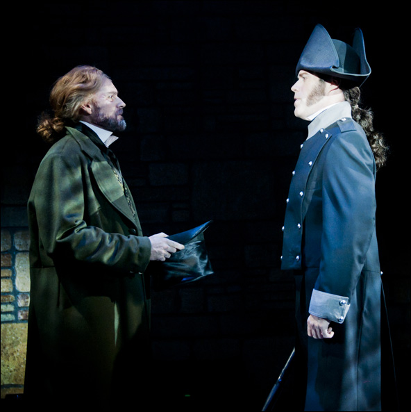Bart Shatto as Jean Valjean and Todd Alan Johnson as Javert