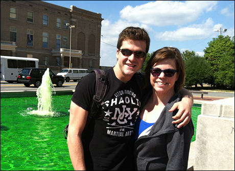 """Little Rock has """"greenified"""" the fountain outside the theater"""
