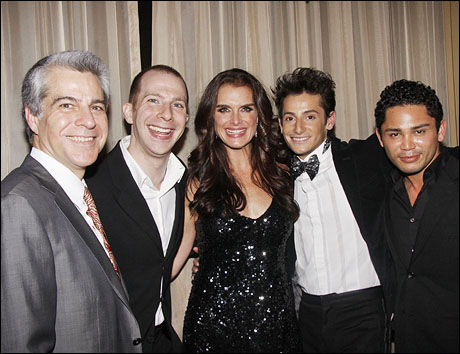 Director Mark Waldrop, music director Charlie Alterman, Brooke Shields, Frankie James Grande and choreographer Isaac Calpito