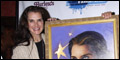 Brooke Shields Honored with Fame-Wall Painting at Addams Family Halloween Party