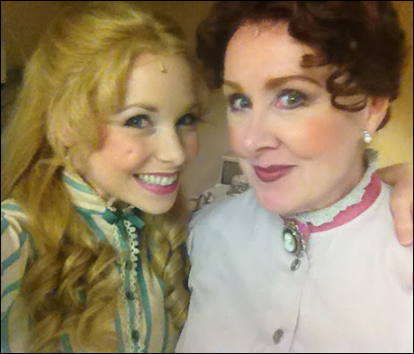 "Marissa: Mother and daughter- me and Dottie Stanley, who plays Parthy- my ""loving"" mother getting ready."