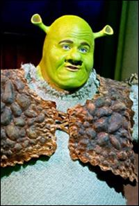 Dean Chisnall in <i>Shrek</i>