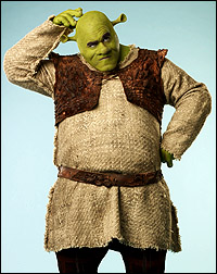 Brian d'Arcy James as <I>Shrek</I>