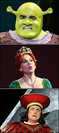 <I>Shrek</I> stars Brian d'Arcy James, Sutton Foster and Christopher Sieber.