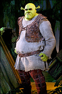 Brian d'Arcy James in Broadway's <I>Shrek</I>