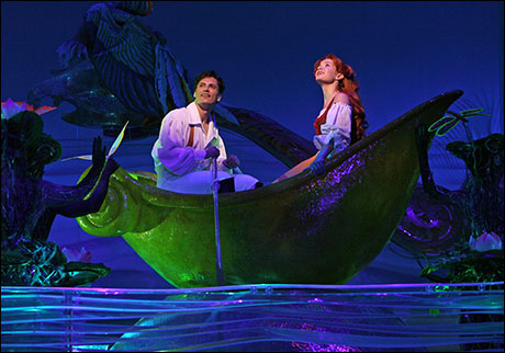 Sean Palmer and Sierra Boggess in The Little Mermaid