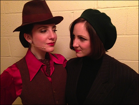 "Sooo maybe we had a few too many ladies per men in the ensemble and decided to have a more PROGRESSIVE ""Romantic Atmosphere..."" ... it was a HIT. Check out the looks of Jessica Hershberg and Margot de la Barre."