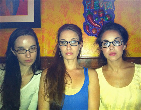 Sophie & Sharon welcome Summer, a cellist who sometimes visits their dorm room.  She must go to Manhattan School of Music!  No but seriously this is Sierra's big sister, professional cellist Summer Boggess! Aren't our matching specs cute?