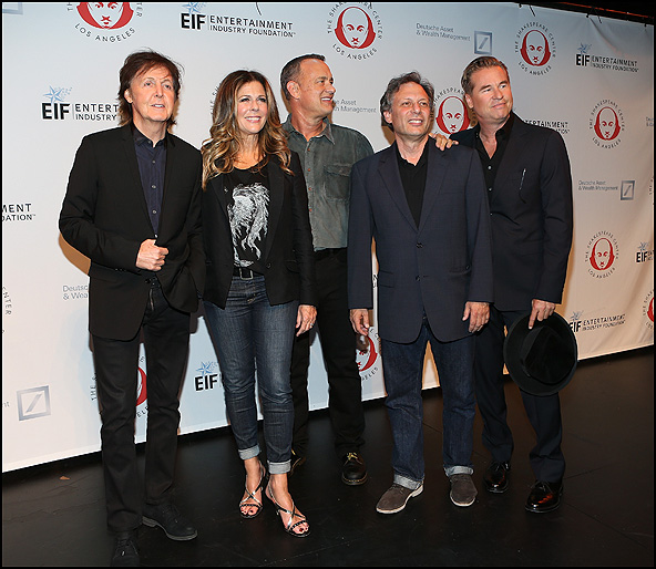 Paul McCartney, Rita Wilson, Tom Hanks, Ben Donenberg and Val Kilmer