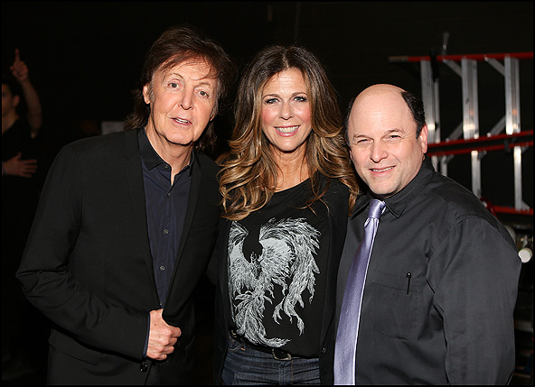 Paul McCartney, Rita Wilson and Jason Alexander