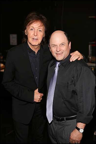 Paul McCartney and Jason Alexander