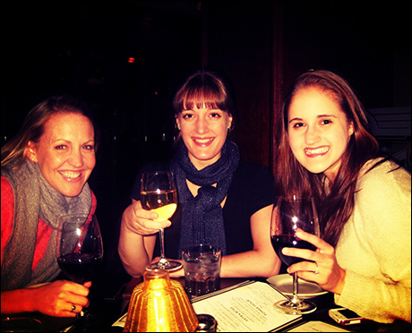 The first thing we do when we get to a new city is drop off our bags and then go out to explore. In Charlotte, Lael Van Keuren, Erin Henry and I ended up at Morton's Steakhouse and enjoyed some wine and bar bites after a long travel day.