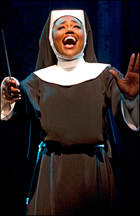Patina Miller in <i>Sister Act</i>.