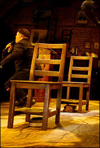 You too can sit on chairs like these, albeit not directly in the middle of the action, at <i>Spring Awakening</i>.