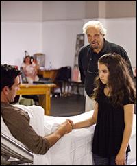 Matt Walton, Hal Linden and Danielle Soibelman in rehearsal
