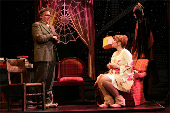 David Beach and Emily Skinner in the 2012 Goodspeed Musicals production The Great American Mousical.