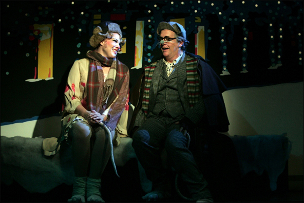 Emily Skinner and David Beach in the 2012 Goodspeed Musicals production The Great American Mousical.