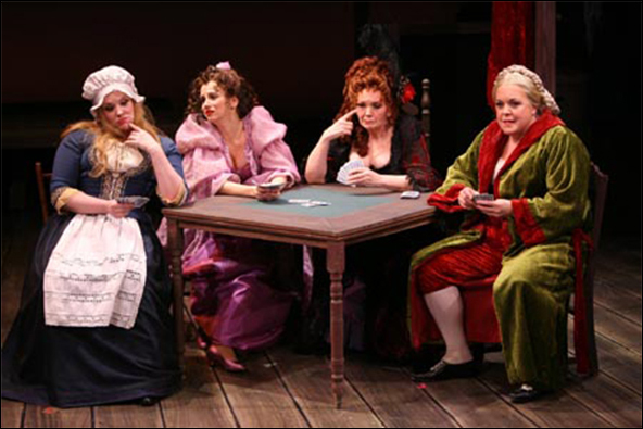 Emily Skinner, Christianne Tisdale, Patti Allison and Gina Ferrall in the 2006 York Theatre Company production Fanny Hill