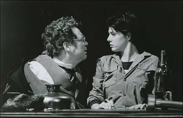 John Christopher Jones and Marisa Tomei in the 1994 NYTW production Slavs!