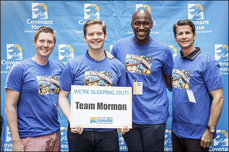 Rory O'Malley and his old Book of Mormon co-star, John Eric Parker, lead the fundraising efforts for Team Mormon