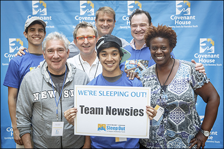 Jeff Calhoun (top), Thomas Schumacher (middle) and Capathia Jenkins (right) lead Team Newsies