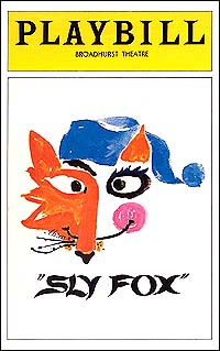 Playbill cover for <I>Sly Fox</i> in 1976.