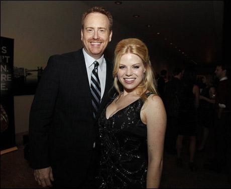 Robert Greenblatt and Megan Hilty