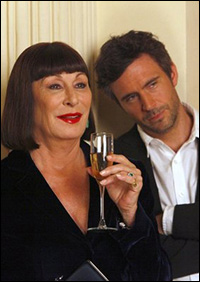 Anjelica Huston and Jack Davenport