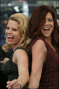 Megan Hilty and Debra Messing