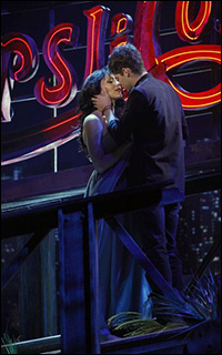 Katharine McPhee and Jeremy Jordan as imagined by Derek for <i>Hit List.</i>