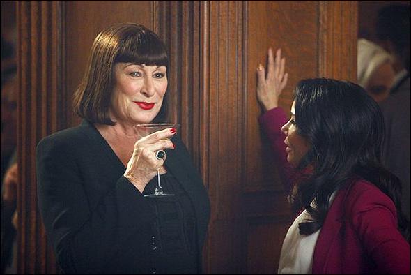 """Anjelica Huston (""""Eileen Rand"""") and Daphne Rubin-Vega (""""Agnes"""") in Season 2, Episode 15: """"The Transfer"""""""