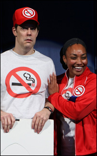 John Bolton and Natalie Venetia Belcon in the 2010 CATCO production
