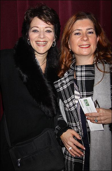 Judy Blazer and guest
