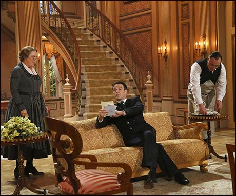 Kristine Nielsen as Frau Schmidt, Stephen Moyer as Captain Von Trapp and Sean Cullen as Franz