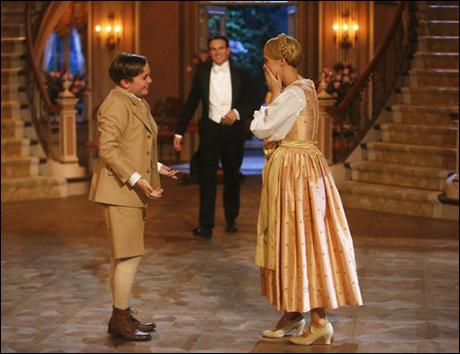 Carrie Underwood as Maria, Stephen Moyer as Captain Von Trapp, Joe West as Kurt