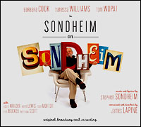 The album cover of <i>Sondheim on Sondheim</i>.