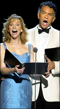 Reba McEntire and Brian Stokes Mitchell star in <i>South Pacific</i> at the Hollywood Bowl.