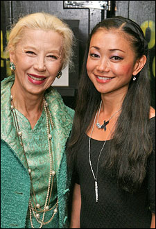 France Nuyen (Liat in the film) and cast member Sumie Maeda (Liat on tour)