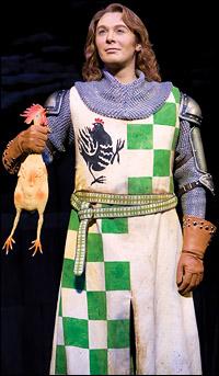 Clay Aiken in <i>Spamalot</i>.