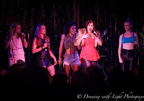 "Tess Soltau, Sabrina Harper, Gabrielle McClinton, Ryah Nixon and Bethany Moore sing ""Saturday Night Divas"""